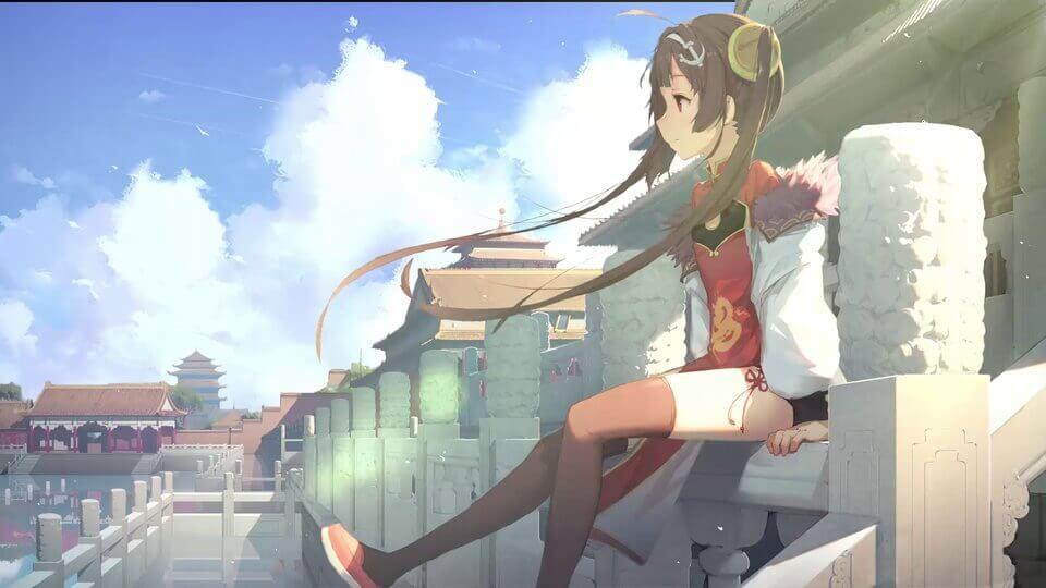 中国故宫少女